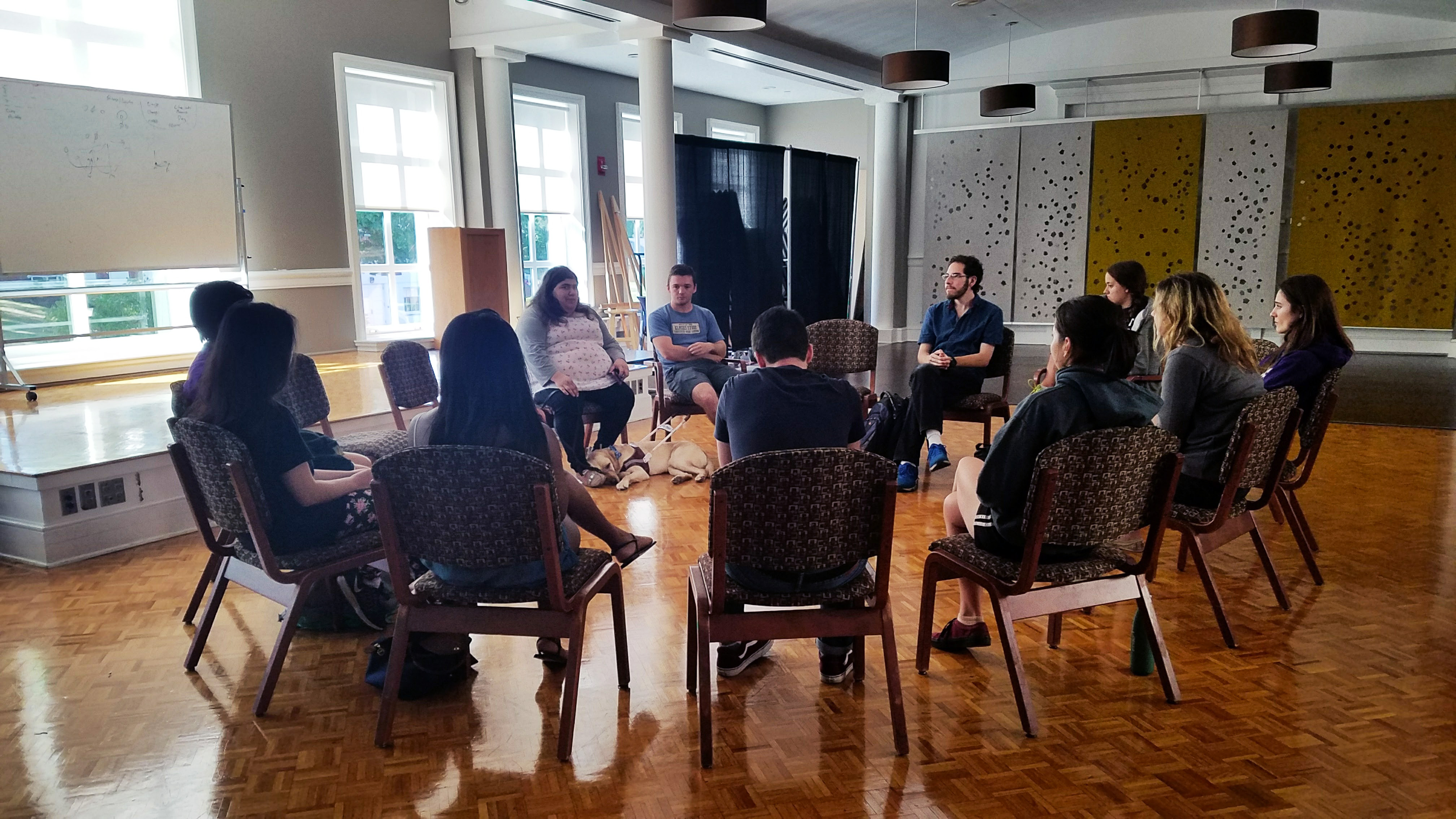 Eleven students, including forum organizers Annika Ariel '19 and Matt Walsh '19, gathered in a circle in Friedmann Room on Friday, Sept. 22, to discuss issues of accessibility on campus.